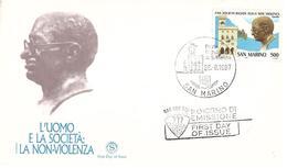 Fdc Filagrano 1987: LA NON-VIOLENZA,no Viaggiata - FDC