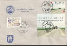 HR 2005-716 10A°BLJESAK & OLUJA, CROATIA-HRVATSKA, LETTER - Kroatien