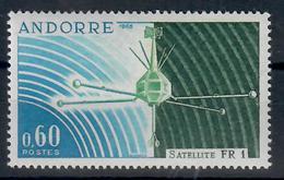 ANDORRA FR. -  1966- LANCIO DEL SATELLITE FRANCESE FR1. - MNH** - Nuovi