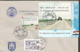 HR 2005-716 10A°BLJESAK & OLUJA, CROATIA-HRVATSKA, LETTER - Militaria