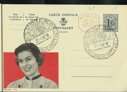 Publibel Obl. N° 1613M (Miss Publibel) Obl. Melreux-Hotton  Grottes Des Milles Et Une Nuits  22/04/62 (plis ) - Entiers Postaux