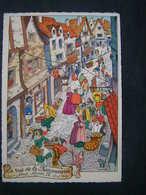 Carte Illustrée Et Signée - La Rue De La Ferronnerie Sous Henry IV - Illustratori & Fotografie