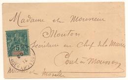 Petite Enveloppe De Conakri De 1903 Pour Pont à Mousson Avec 5c Seul Sur Lettre Cote Mini 65 € - Guinée Française (1892-1944)