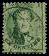 BELGIUM BELGIQUE BELGIO 1863 1 CENT. USED - 1883 Leopold II