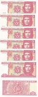 Cuba - 5 Pcs X 3 Pesos 2006 UNC Lemberg-Zp - Cuba