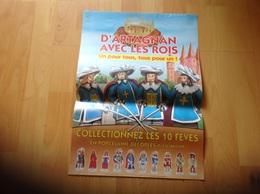 Affiche D Artagnan Avec Les Roi Fèves - Posters