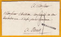 1788 - Règne De Louis XVI - Marque Linéaire - Lettre Personnelle De 2 Pages Sur Parchemin De Chateaurouge Vers Paris - 1701-1800: Precursors XVIII