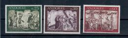ANDORRA FR. -  1968- AFFRESCHI DEL 16° SECOLO, 2A SERIE. SERIE COMPLETA - MNH** - French Andorra