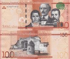 Dominican Rep - 100 Pesos Oro 2014 UNC Lemberg-Zp - Dominicana