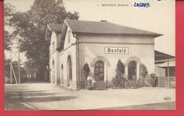 D 67 CPA  BENFELD   LA GARE Petite Animation N014 - Benfeld