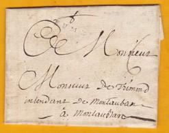 1790 - Règne De Louis XVI  - Marque Linéaire FUMEL, Lot - Lettre Sur Parchemin Vers Montauban, Tarn Et Garonne - 1701-1800: Precursors XVIII
