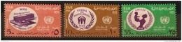 E24 - Egypt Occupation Of Gaza Palestine, 1966 SG 167-169 Cplte Set 3v. MNH - UN Day, WHO. UNRWA Refugees, UNICEF - Palestine