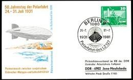 ICEBREAKER MALYGIN 1981 East German Postal Card PP16 B1/007c - Navires & Brise-glace