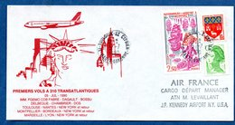 Enveloppe /  1èr Vol A310 Transatlantique / Toulouse /  5-7-90 - FDC