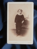 Photo CDV Henri Lagrange à Genève - Jeune Garçon En Pied, Henri Fazan Circa 1870 L392 - Anciennes (Av. 1900)