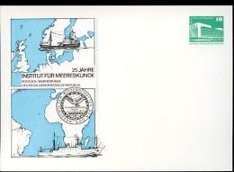 OCEANOGRAPHY Rostock 1983 East German Private Postal Card  PP18 B2/022 - Geographie