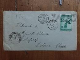 REGNO - Rossini C.25 Su Busta Isolato + Spese Postali - 1900-44 Victor Emmanuel III