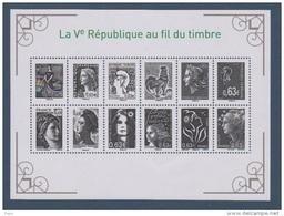 2013-N°F4781** LA Vième REPUBLIQUE AU FIL DU TIMBRE - France