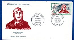 Sénégal / Enveloppe /  Emile Lecrivain / Dakar / 31-1-70 - Sénégal (1960-...)