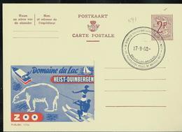 Publibel Obl. N° 1724  ( Domaine Du Lac Heist - Duinbergen - ZOO - Ski Nautique - Ours) Obl. Bxl 17/09/60 - Publibels