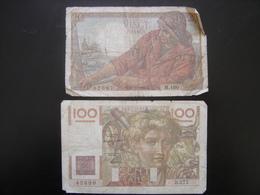 Lot N°3 Billet PECHEUR 200 Francs PAYSAN 100 Francs De 1948 - 1871-1952 Antichi Franchi Circolanti Nel XX Secolo