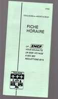 Toulouse-Montauban : Horaire SNCF 1981 (PPP14895) - Europe