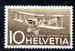 106/1500 - SVIZZERA 1944 , Posta Aerea Unificato N. 36  ***  MNH - Nuevos