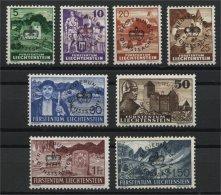 LIECHTENSTEIN, OFFICIALS 1937 FULL SET MNH - Dienstpost