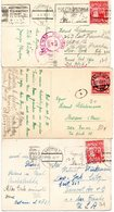 Poland 3 Old Postcards Mailed - Briefe U. Dokumente