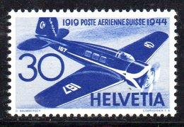 108/1500 - SVIZZERA 1944 , Posta Aerea Unificato N. 38  ***  MNH - Nuevos