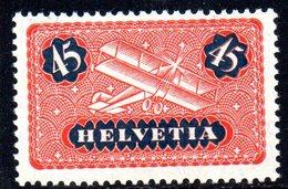 109/1500 - SVIZZERA 1923 , Posta Aerea Unificato N. 8a  ***  MNH - Nuovi