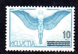110/1500 - SVIZZERA 1938 , Posta Aerea Unificato N. 25  ***  MNH - Luftpost