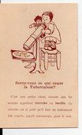 Carte Postale SAVEZ VOUS CE QUI CAUSE LA TUBERCULOSE? (PPP14901) - Postcards