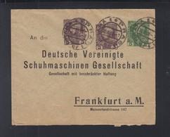 KuK Umschlag Mit Zudrucken Prag Nach Frankfurt Am Main - Ganzsachen