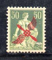 114/1500 - SVIZZERA 1918 , Posta Aerea Unificato N. 2  ***  MNH - Nuovi