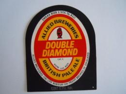 Label Etiquette Bier Bière Double Diamond Allied Breweries British Pale Ale Allied Breweries Burton Zwaar Bier - Cerveza