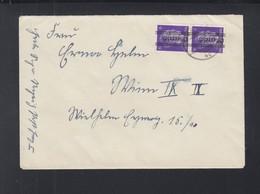 Österreich Paar Mit Aufdruck Auf Brief 1945 - 1945-.... 2. Republik
