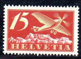115/1500 - SVIZZERA 1923 , Posta Aerea Unificato N. 3  * - Nuevos
