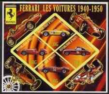 63321 Haiti 2006 Ferrari Cars 1940-1950 Imperf Sheetlet 4 Diamond Shaped Values Unmounted Mint (racing) - Haiti