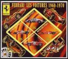 63322 Haiti 2006 Ferrari Cars 1960-1970 Imperf Sheetlet 4 Diamond Shaped Values U/m (racing Formula 1 F1) - Haiti