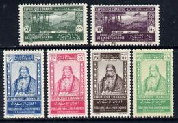 3691 Lebanon 1942 Independence Perf Set Of 6 Unmounted Mint, SG 252-57unmounted Mint SG124b (aviation) - Lebanon