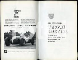 1961 ORIGINAL SILVERTONE UK CAR RACE RACING-PROGRAMME BROCHURE JAGUAR ADVERT - Livres, BD, Revues