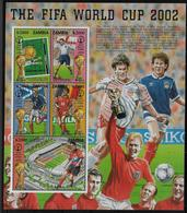ZAMBIE  Feuillet N° 1178/82 * *  ( Cote 12.50e )   Cup 2002  Football Soccer Fussball - Coupe Du Monde