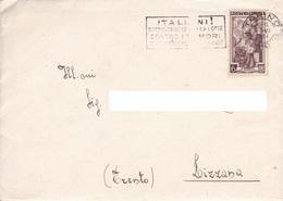Repubblica Italiana, 1954 - 6 Lire Italia Al Lavoro - Nr.638 Su Busta - 6. 1946-.. Republik