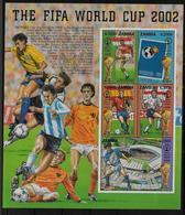 ZAMBIE  Feuillet N° 1189/93 * *  ( Cote 15e )   Cup 2002  Football Soccer Fussball - Coupe Du Monde