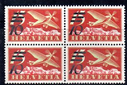 129/1500 - SVIZZERA 1935 , Posta Aerea QUARTINA Unificato N. 19a *** MNH .OPACA - Nuovi
