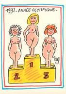 Illustrateurs - Illustrateur Trez - Enghien Les Bains - 1992 Année Olympique - Femmes - Nus - Nude - Autographe - Signé - Trez
