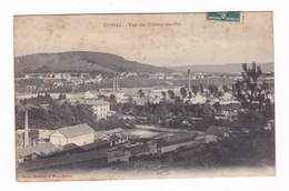 Jolie CPA Epinal (Vosges), Champ Du Pin, Usines. A Voyagé En 1909 - Epinal