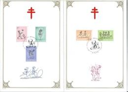 België  O.B.C.  1399 / 1403    (0)   Kinderspelen   Liège  Anti-TBC - Herdenkingskaarten