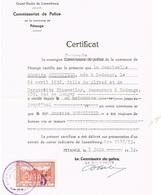 Certificat Ville De Petange (Taxe Communale) - Luxembourg